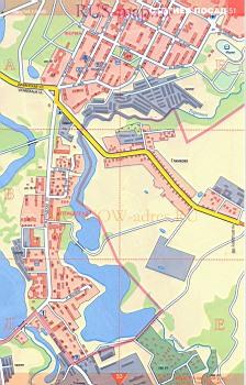 Карта Сергиева Посада С Улицами И Номерами Домов