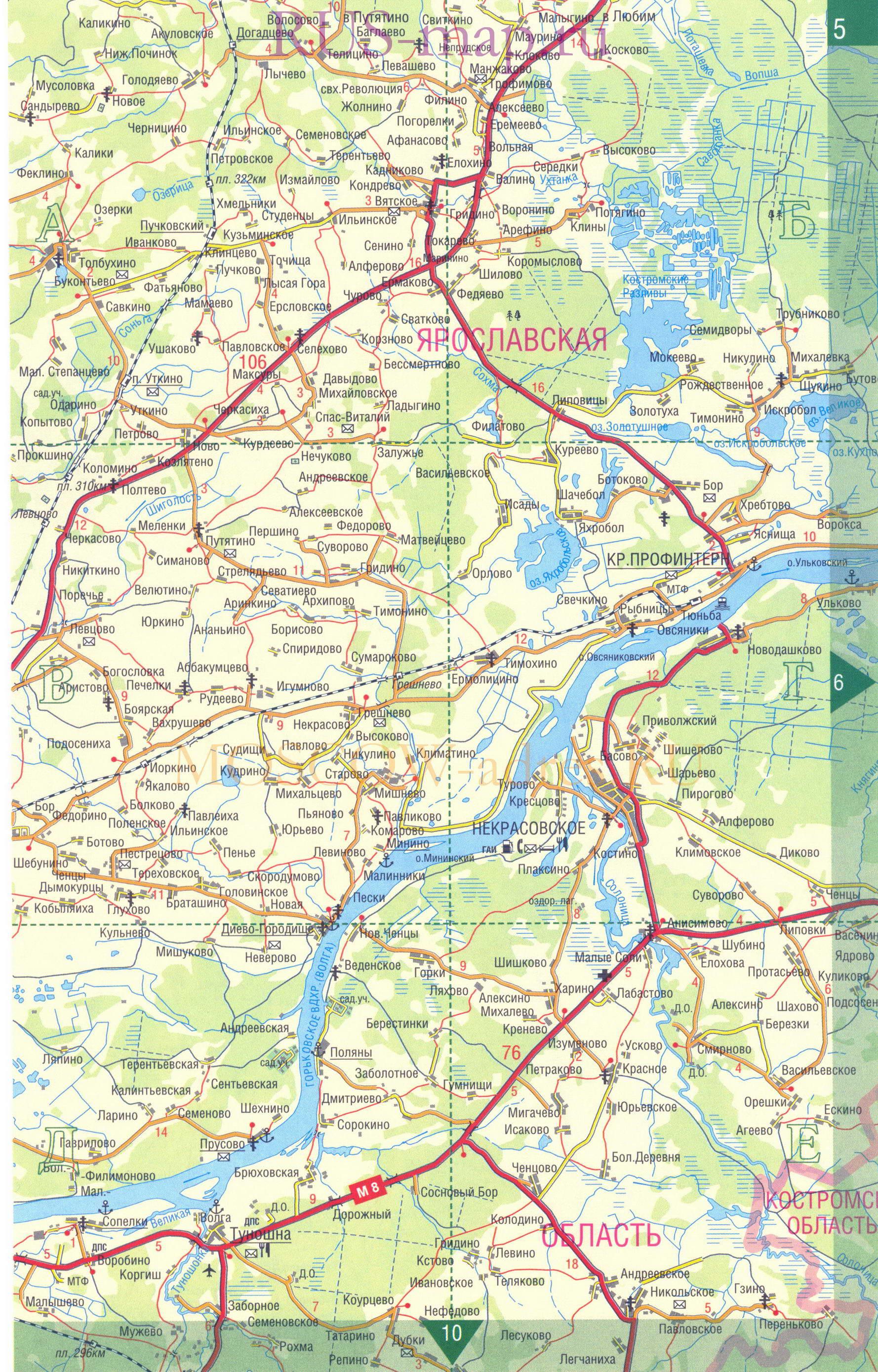 золотое кольцо россии на карте