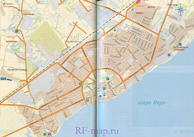 Карта схема города ростов великий