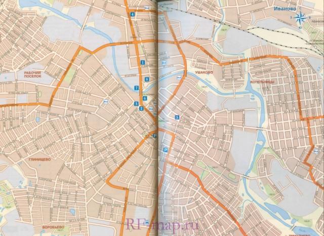 Автомобильная карта Иваново.