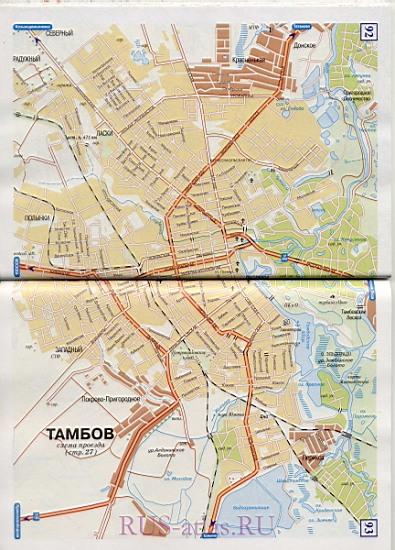 Карта улиц Тамбова. Подробная