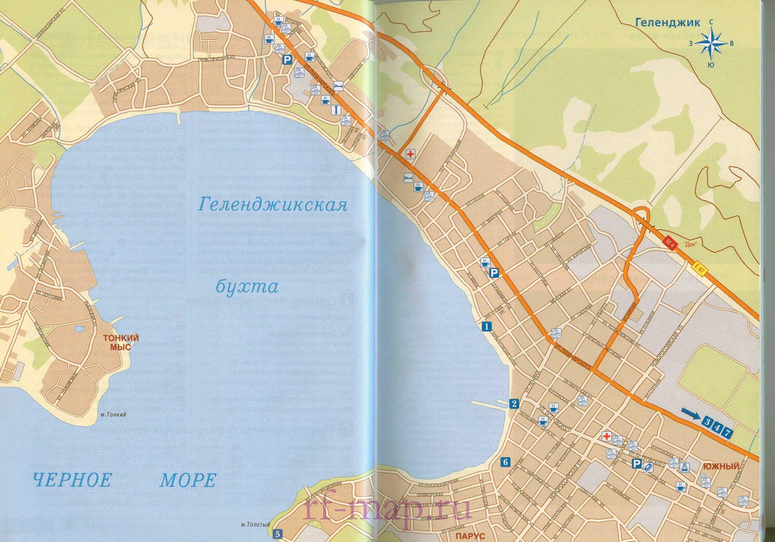 Карта города Геленджик. Подробная карти Геленджика с ...: http://rf-map.ru/map1333924_0_0.htm