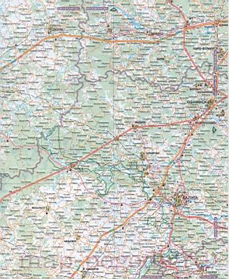 Карта Московской области.