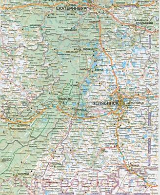 Карта Свердловской области.