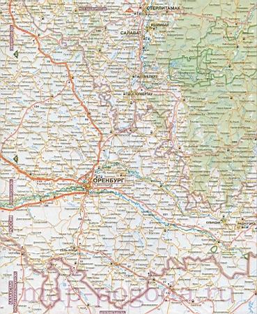 Карта Башкортостана. Подробная