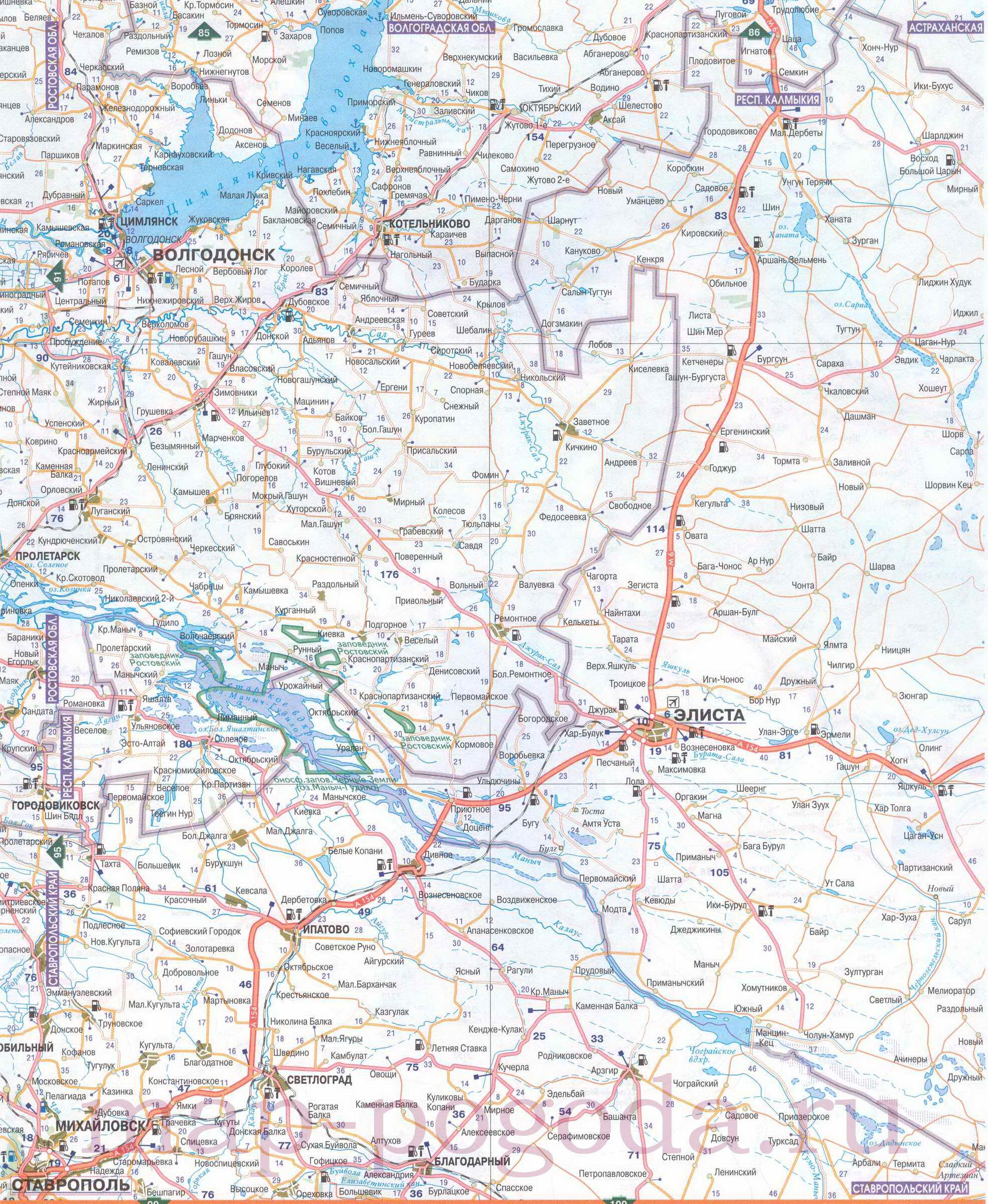 Карта Ставропольского Края Со Спутника