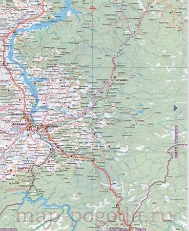 подробная карта красноярского края скачать бесплатно - фото 8