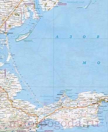 Подробная карта краснодарского края