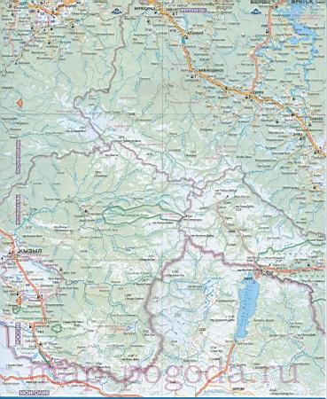 Подробная карта дорог юга