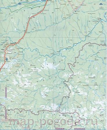 Подробная карта Хабаровского края. Карта дорог северной ...: http://rf-map.ru/681580.html
