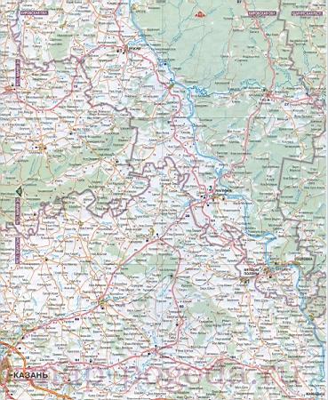 Карта автодорог удмуртской