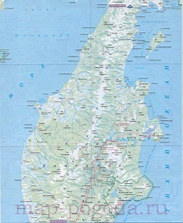 Карта магаданской области побережье