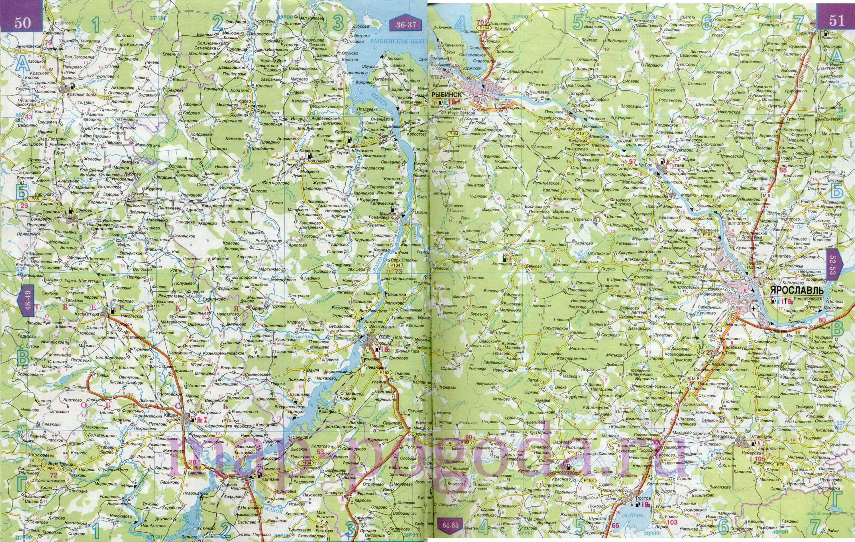Ярославская область на карте России. Карта дорог ...