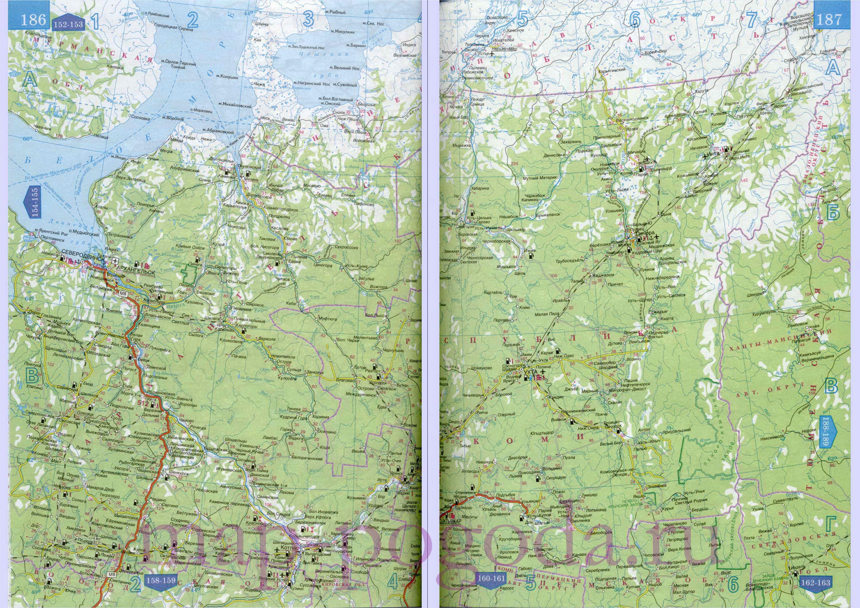 Карта автодорог Коми. Большая карта автодорог республики Коми: http://rf-map.ru/691213.html