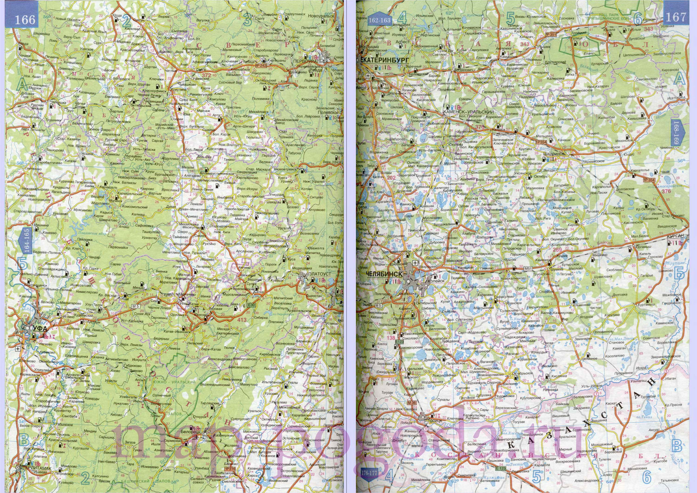 Карта башкирии карта автодорог