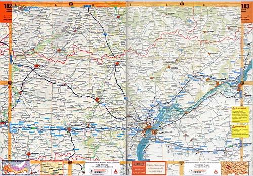 Карта автодорог Саратовской