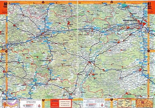 Автомобильная карта Рязанской