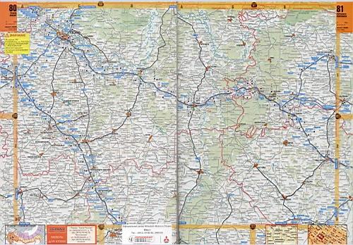 Подробная карта дорог Липецкой