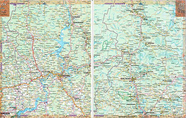 Схема дорог пермского