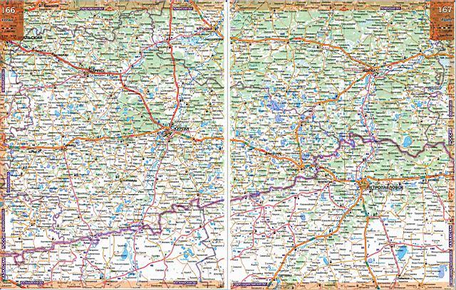 Карта автодорог - Курганская