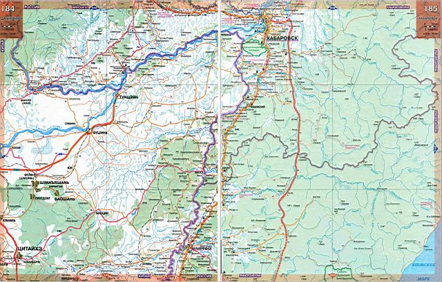 Приморский край карта дорог