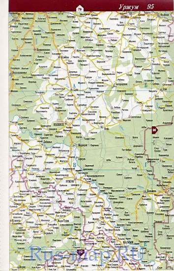 Карта марий эл дорожная атлас дорог