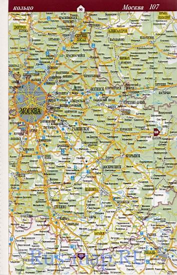 и Подмосковья. Карта дорог
