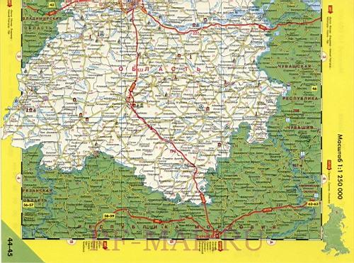Высококачественная карта дорог