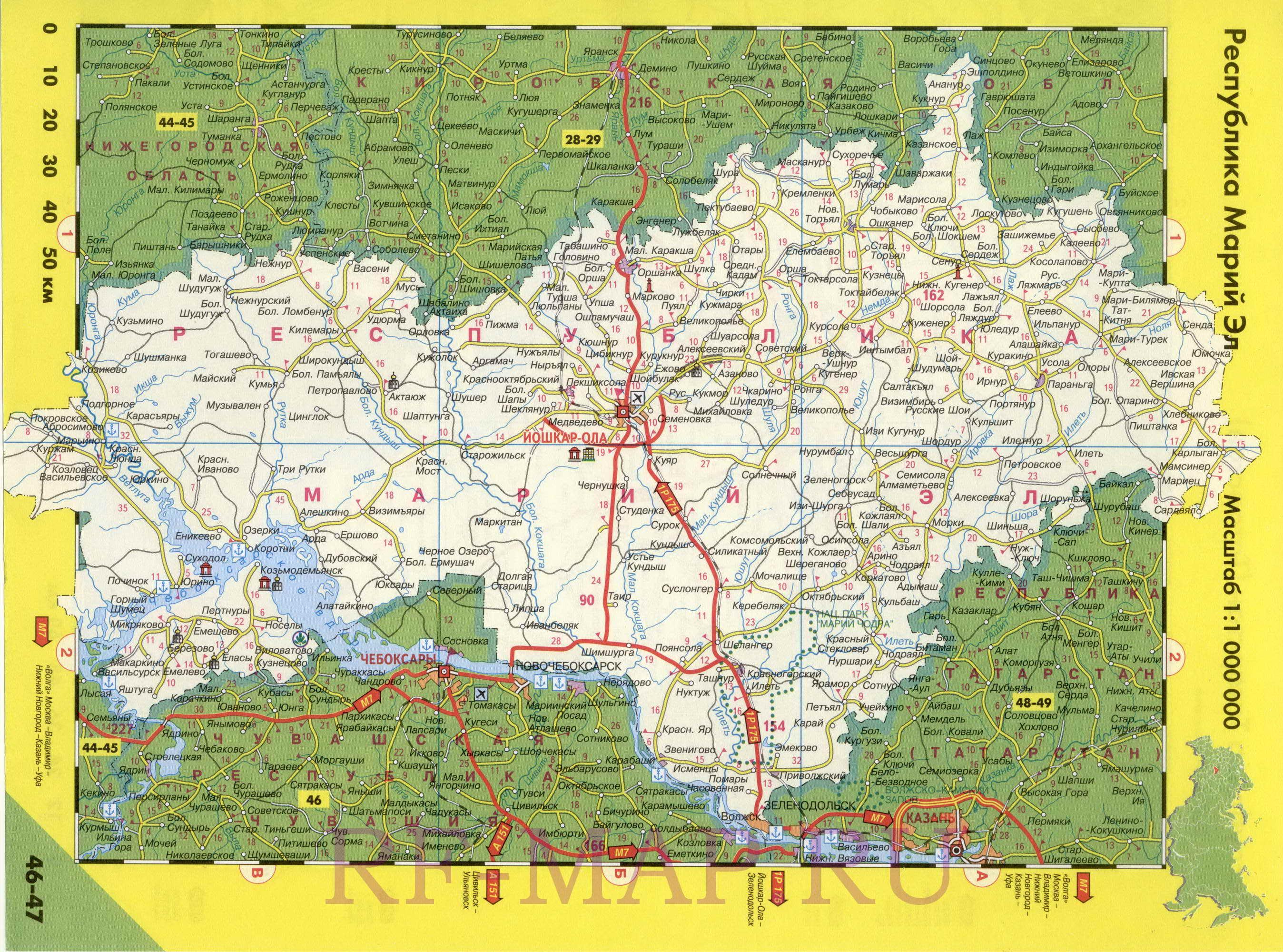 Карта дорог марий эл городские легенды.