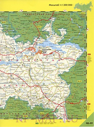 Карта Дорог Татарстана И Самарской Области