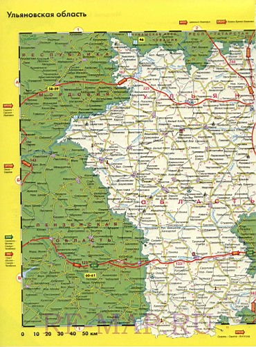 Святому подробная карта ульяновской области вид договора