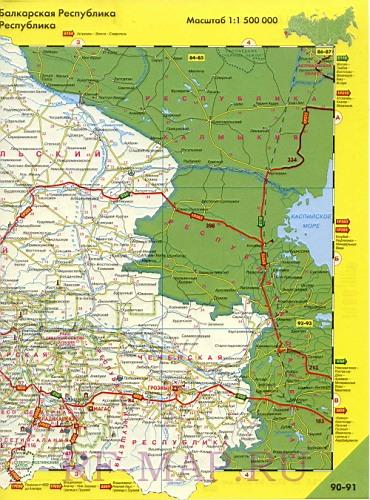 Подробная Карта Дорог Ставропольского Края